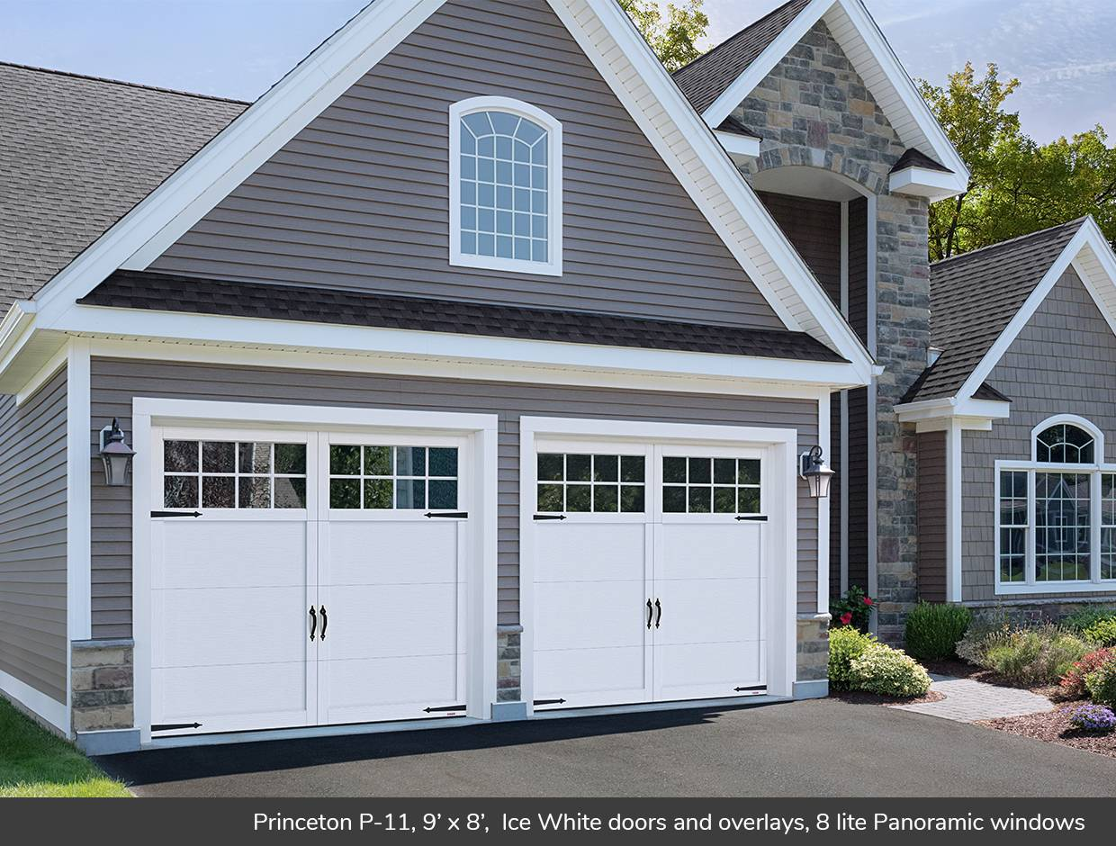 Princeton P-11, 9' x 8', Ice White, Panoramic 8 lite windows